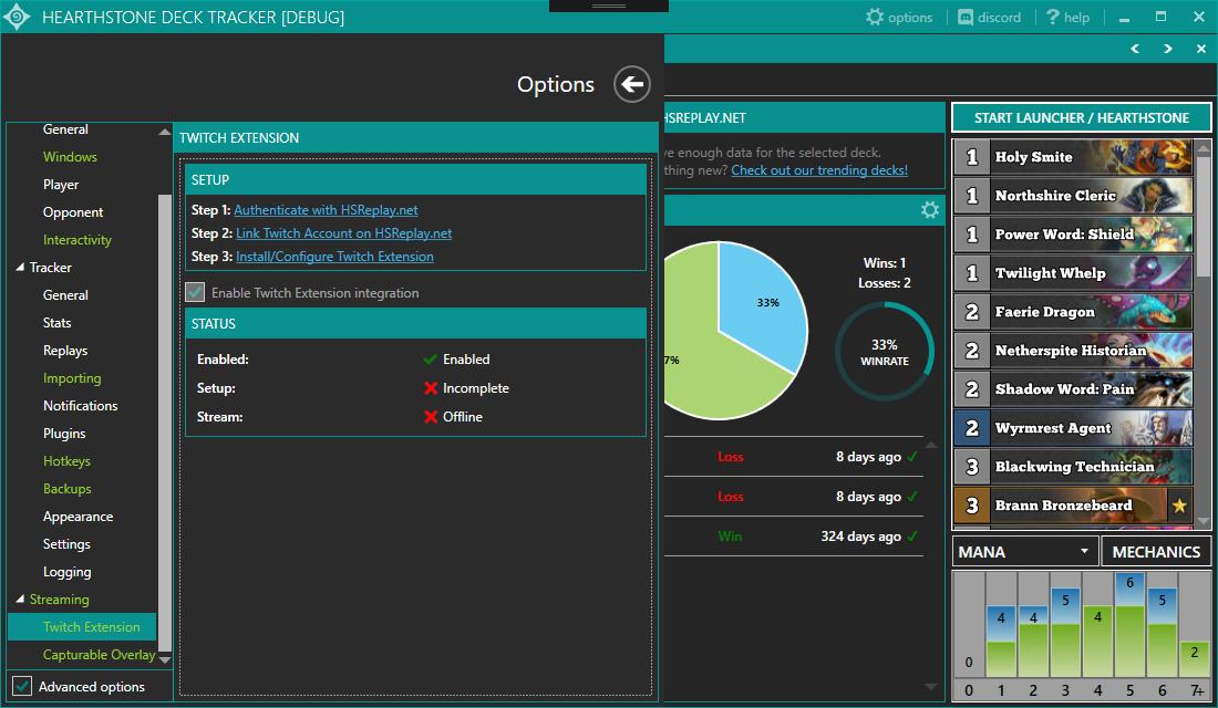 Hearthstone Deck Tracker Twitch Integration – Hearthstone